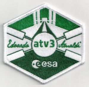 ESA ATV-3 Automated Transfer Vehicle Official Embroidered Patch